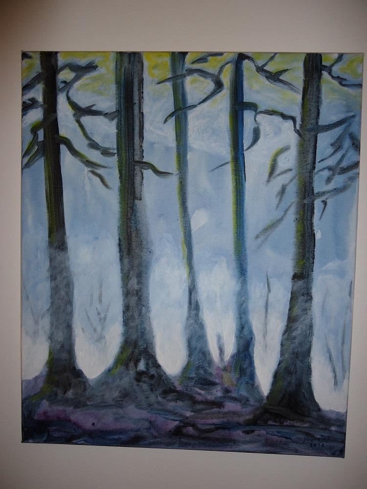Blaue Bäume