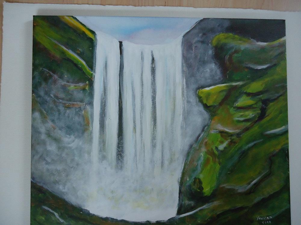 Wasserfall im Grünen