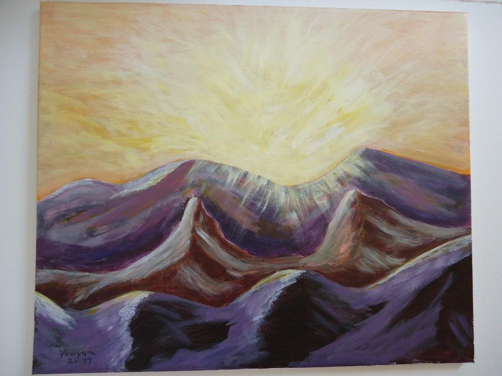 Sonne über den Bergen